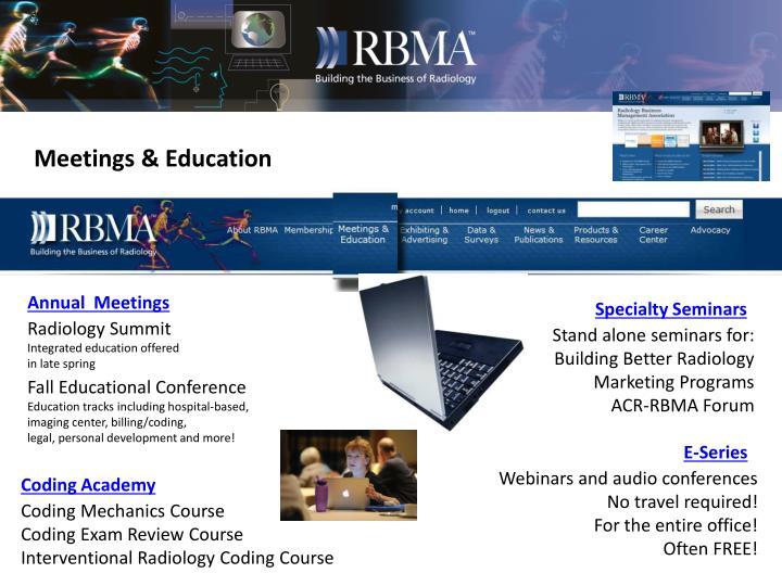 Meetings & Education