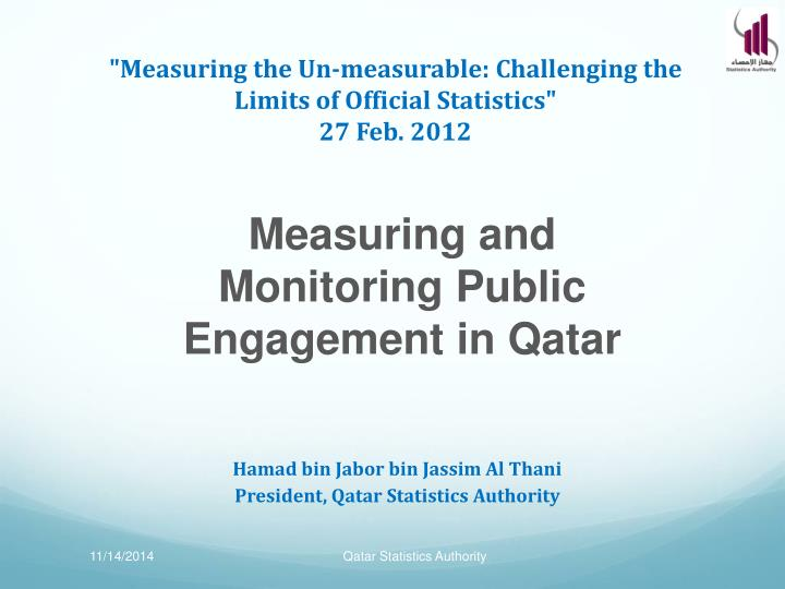 measuring the un measurable challenging the limits of official statistics 27 feb 2012 n.
