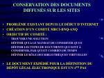 conservation des documents diffus s sur les sites