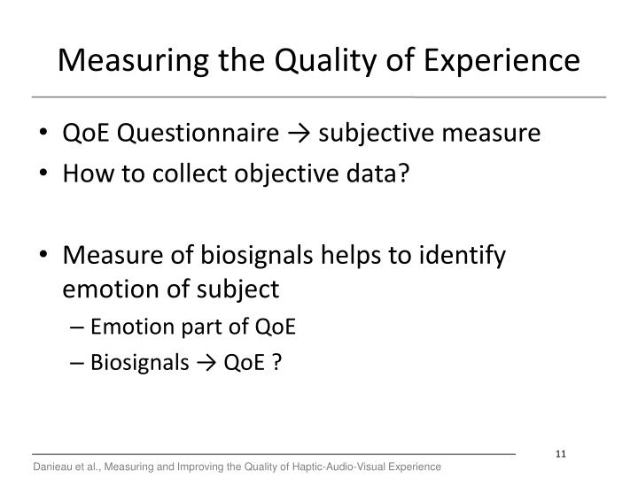 Measuring the Quality of