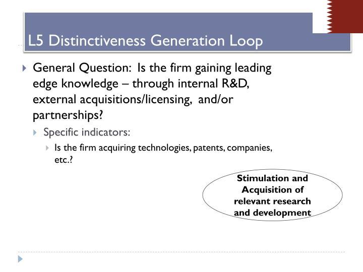 L5 Distinctiveness Generation Loop