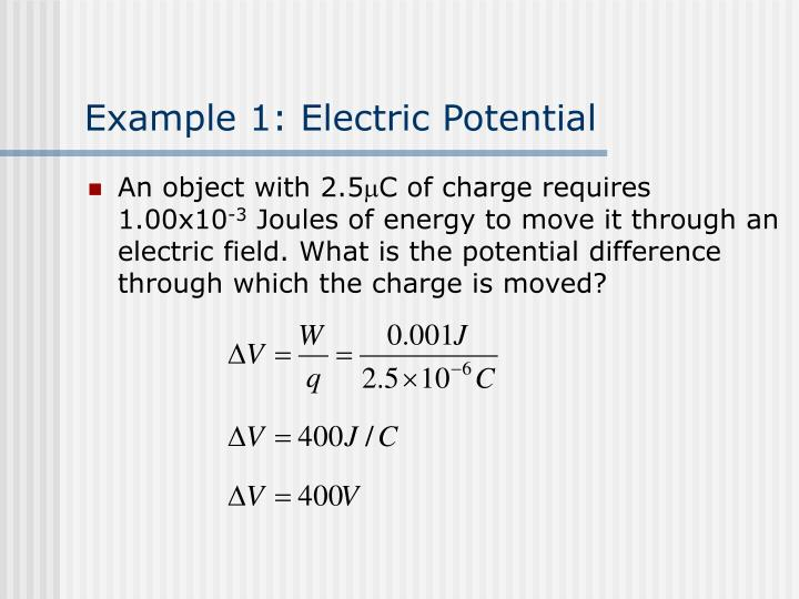 Example 1: Electric Potential