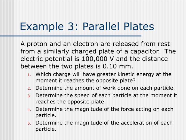 Example 3: Parallel Plates