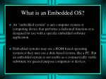 what is an embedded os