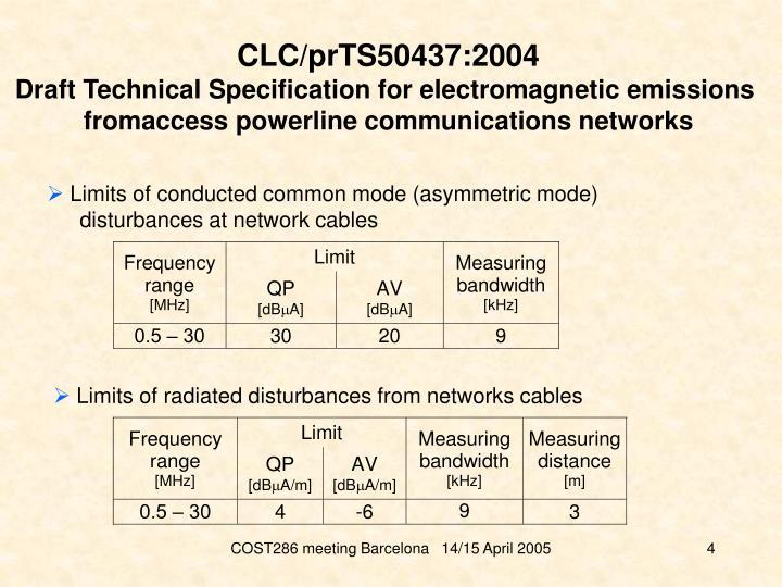 CLC/prTS50437:2004