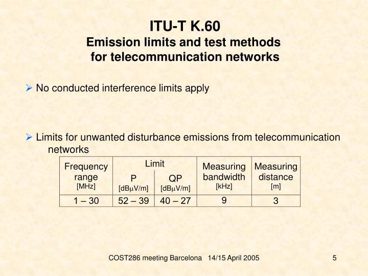 ITU-T K.60