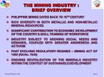 the mining industry brief overview