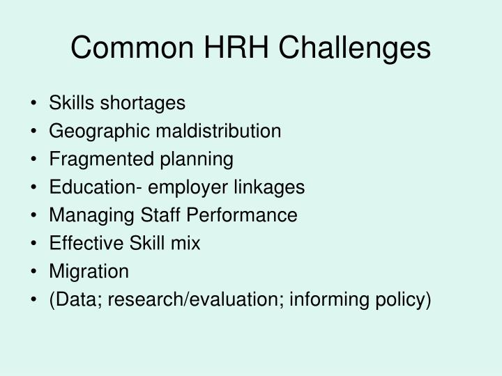 Common HRH Challenges