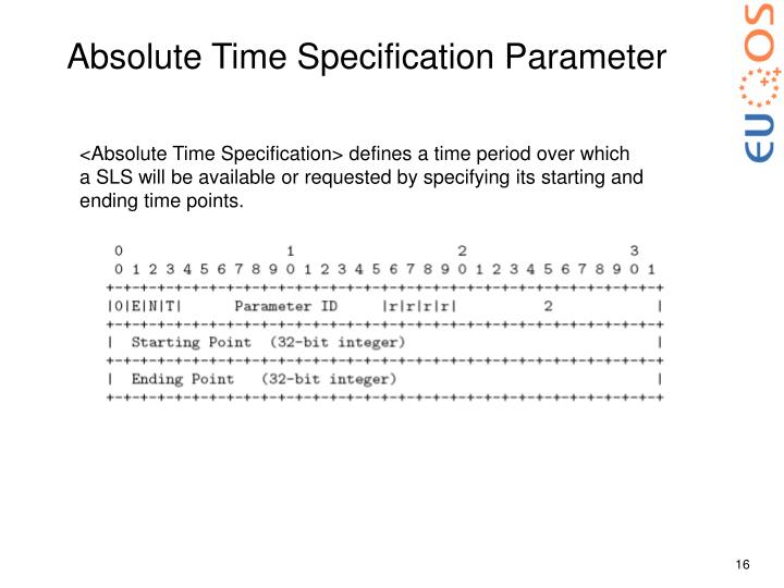 Absolute Time Specification Parameter
