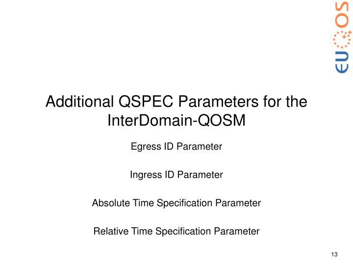 Additional QSPEC Parameters for the InterDomain-QOSM