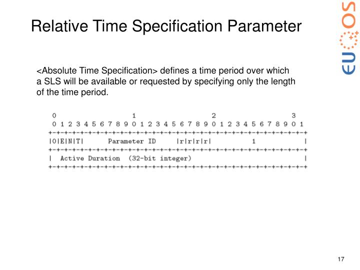 Relative Time Specification Parameter