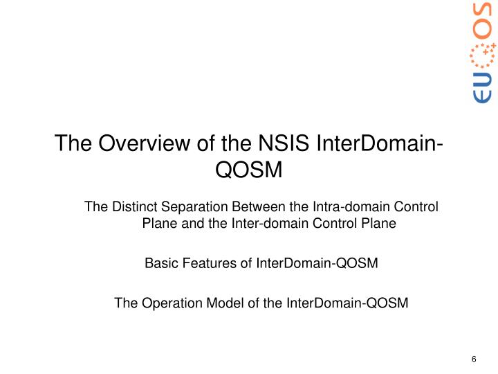 The Overview of the NSIS InterDomain-QOSM