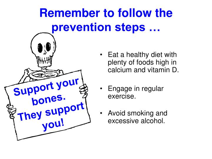 Remember to follow the prevention steps …