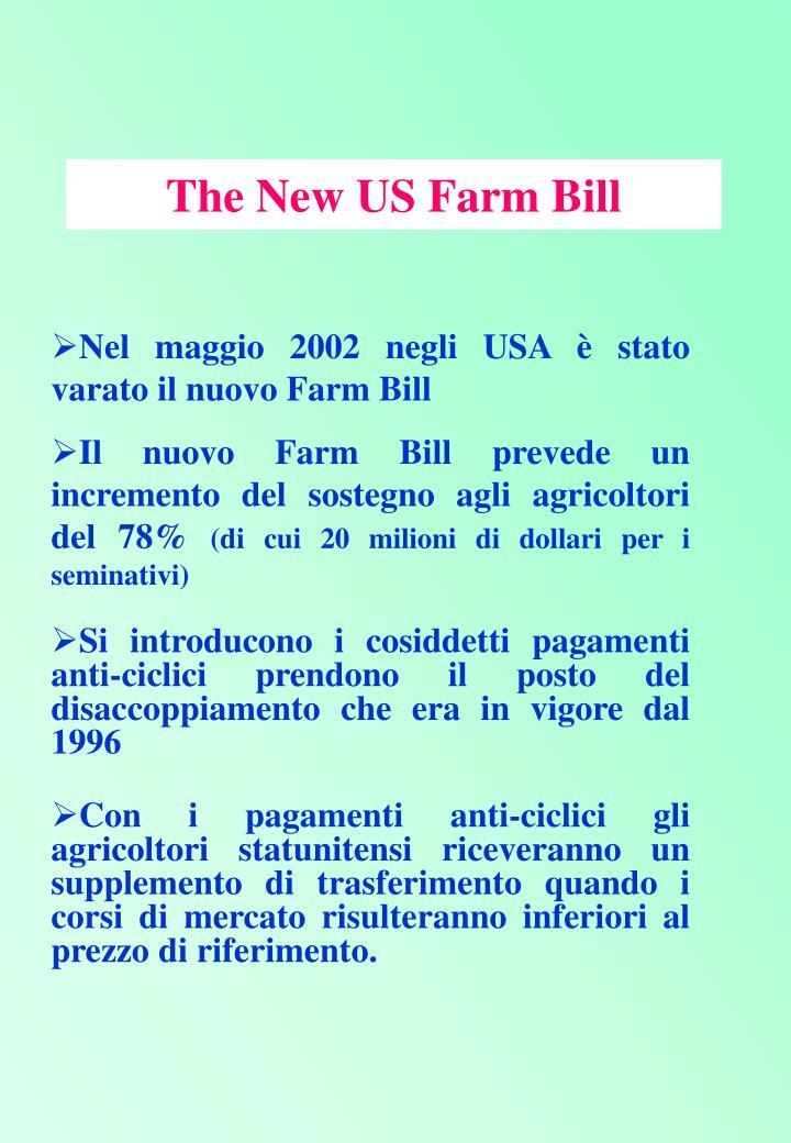 The New US Farm Bill