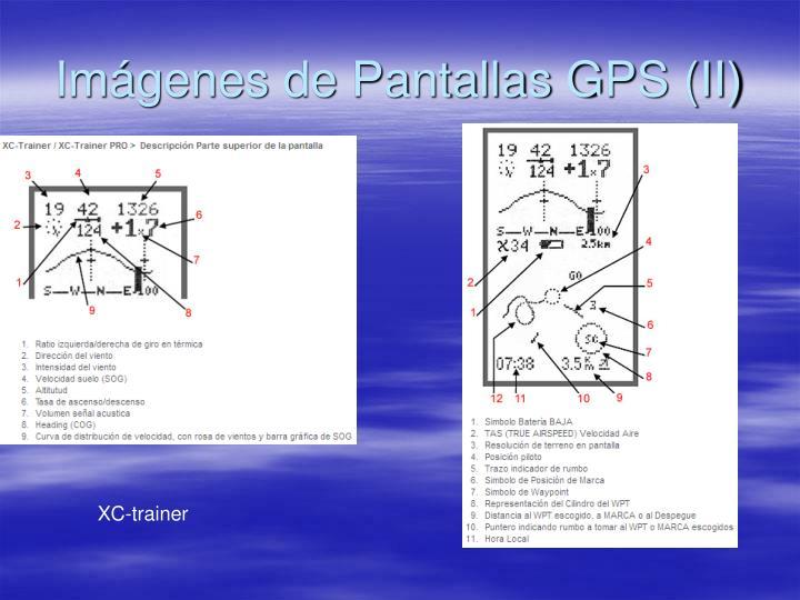 Imágenes de Pantallas GPS (II)