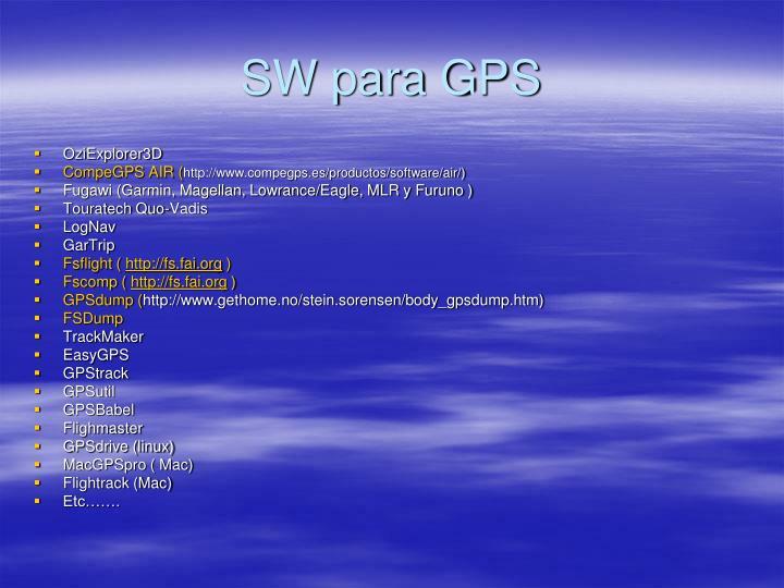 SW para GPS