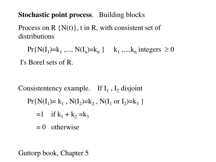 Stochastic point process
