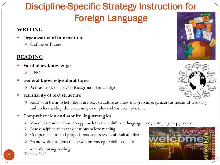 Discipline-Specific Strategy Instruction for Foreign Language