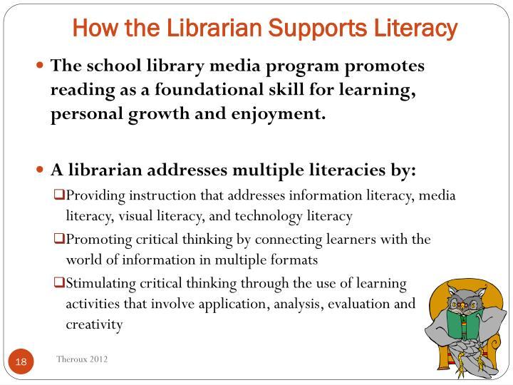 How the Librarian Supports Literacy