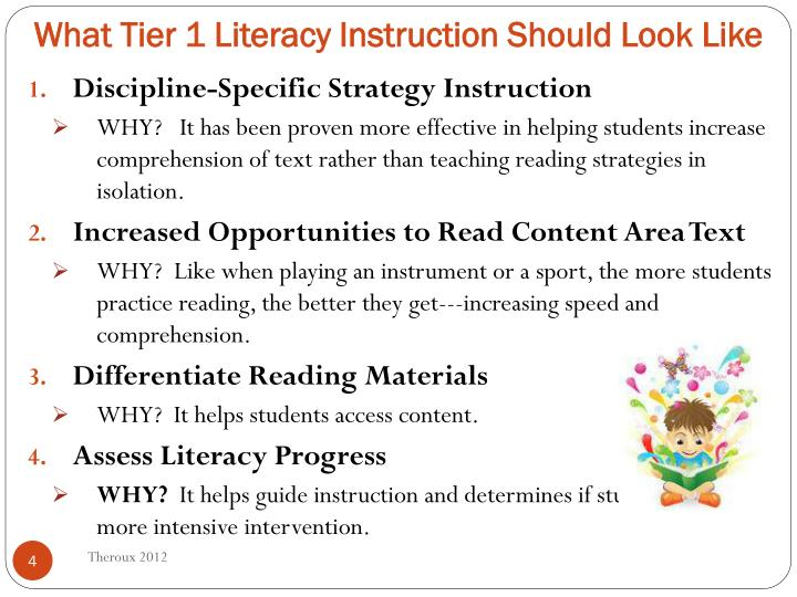 What Tier 1 Literacy Instruction Should Look Like