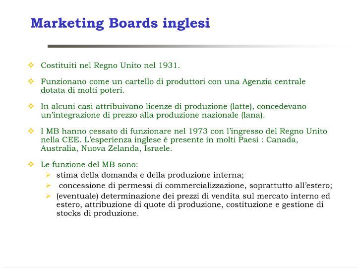 Marketing Boards inglesi