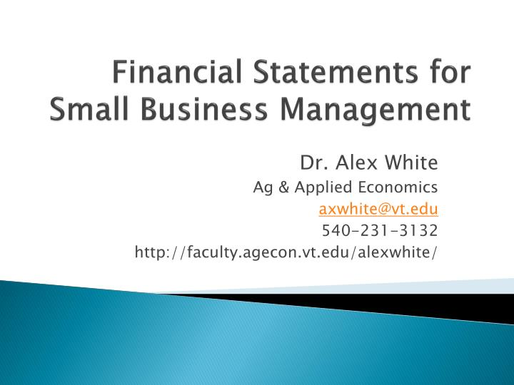 Financial statements for small business management