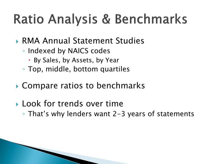 Ratio Analysis & Benchmarks