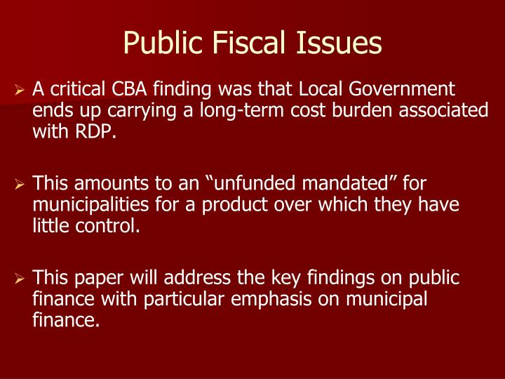 Public Fiscal Issues