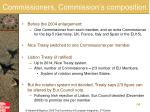 commissioners commission s composition