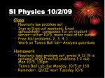 si physics 10 2 09