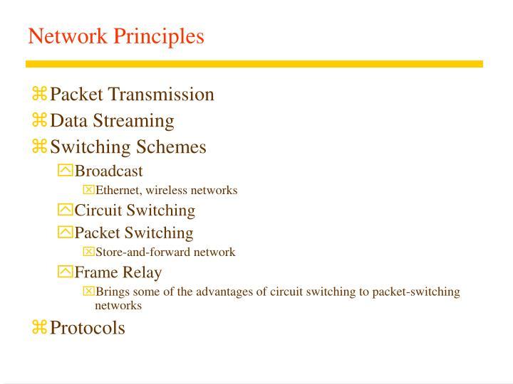 Network Principles