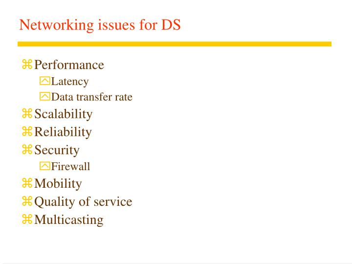 Networking issues for ds