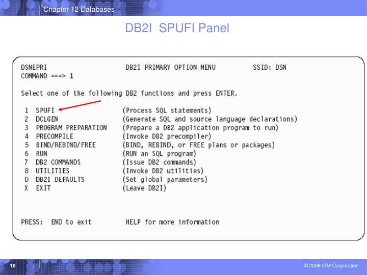 DB2I  SPUFI Panel