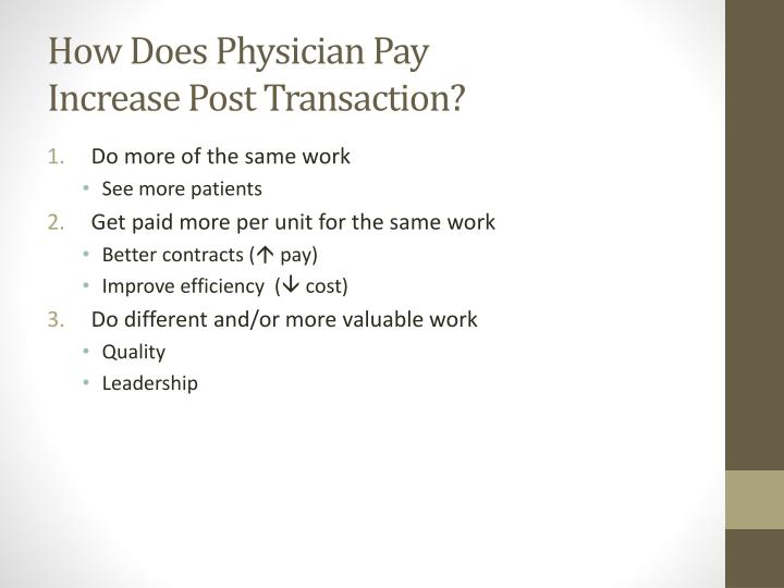 How Does Physician Pay