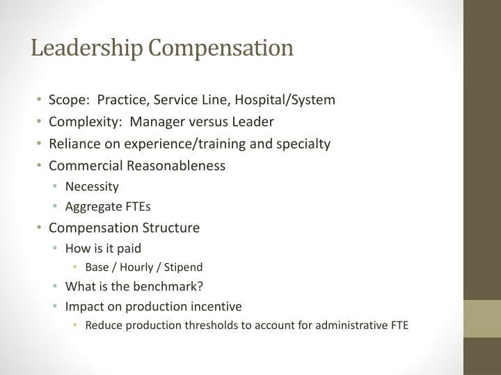 Leadership Compensation