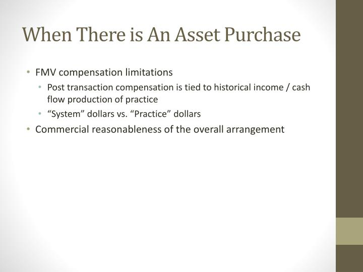 When There is An Asset Purchase