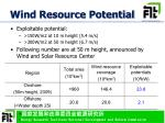 wind resource potential
