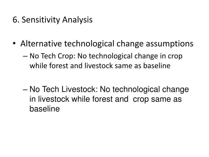 6. Sensitivity Analysis