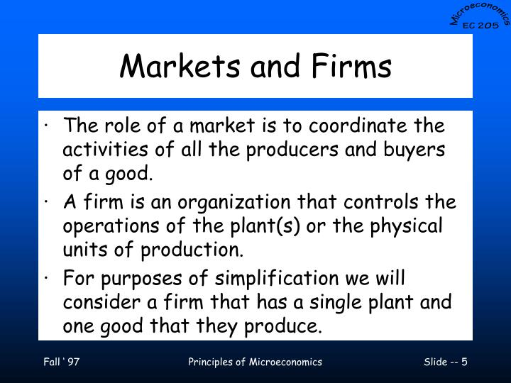 Markets and Firms