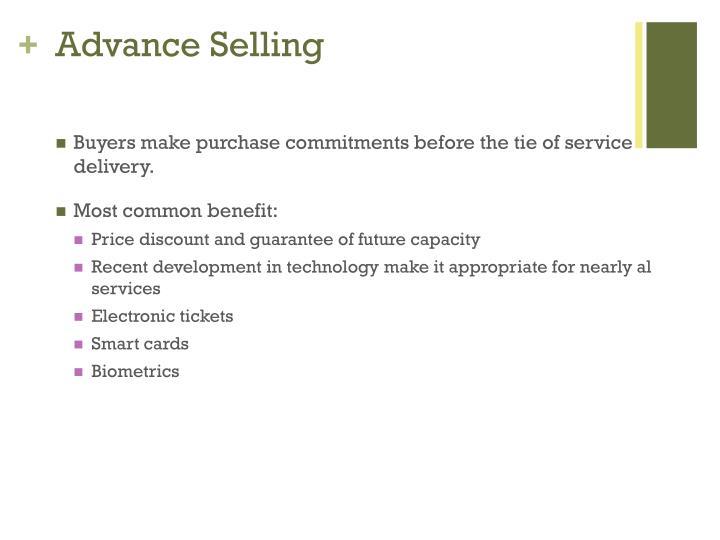Advance Selling