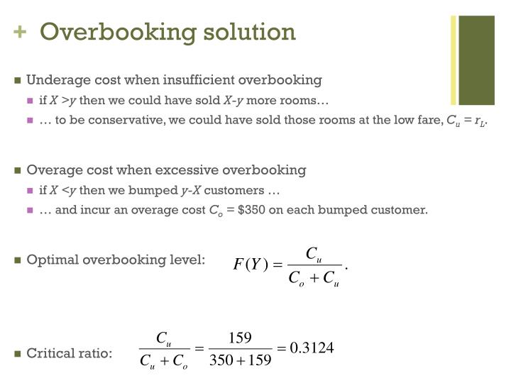 Overbooking solution