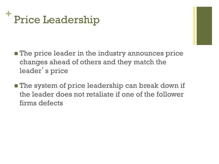 Price Leadership