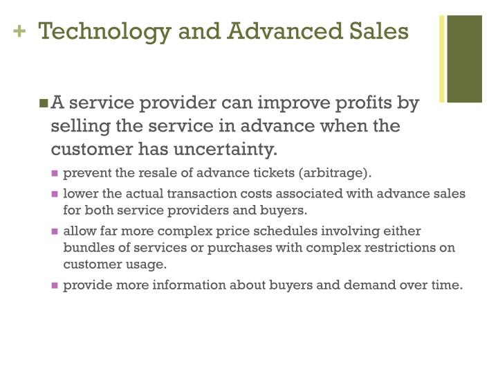 Technology and Advanced Sales