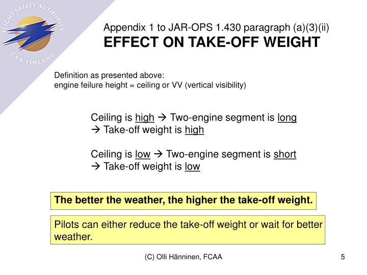 Appendix 1 to JAR-OPS 1.430 paragraph (a)(3)(ii)