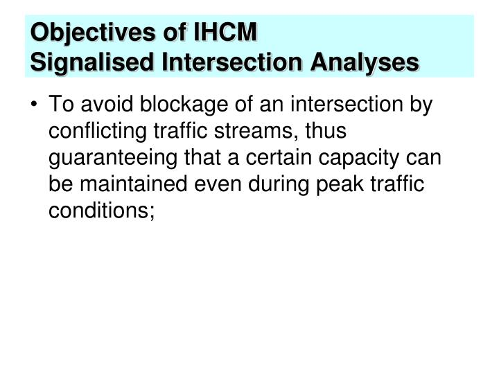 Objectives of IHCM