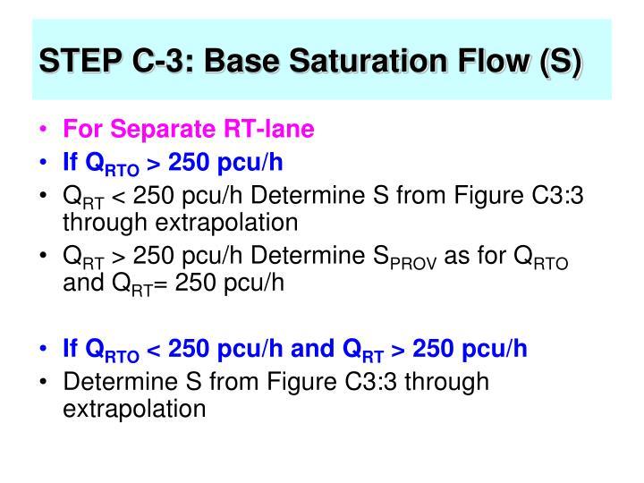 STEP C-3: Base Saturation Flow (S)