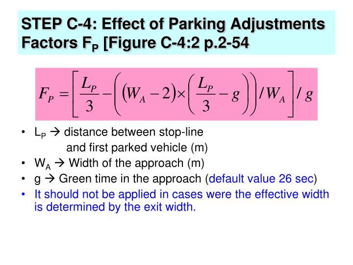 STEP C-4: Effect of Parking Adjustments Factors F