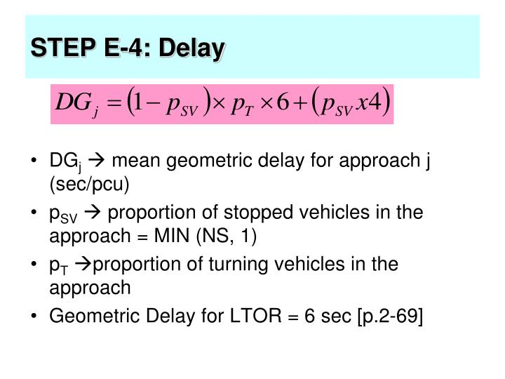 STEP E-4: Delay