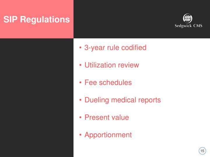 SIP Regulations
