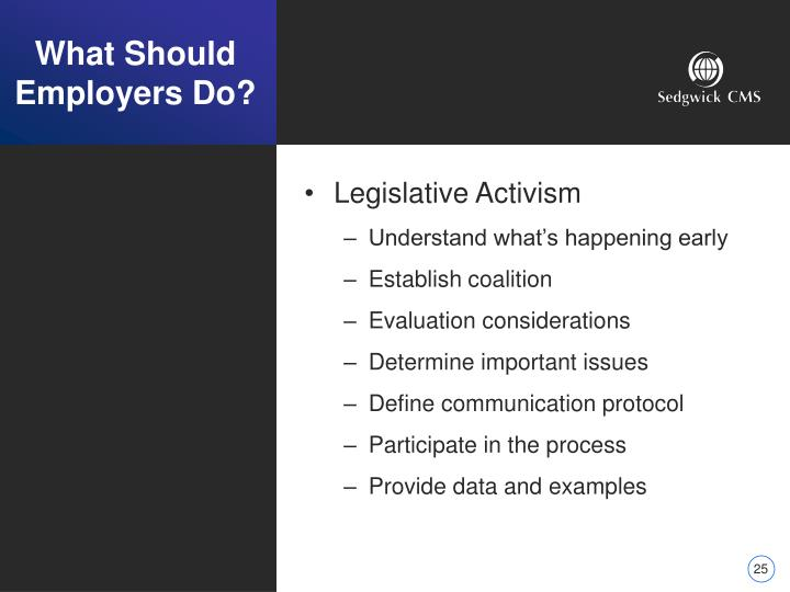 What Should Employers Do?